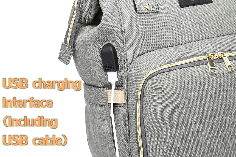 Amazon.com: Juego de bolsas de pañales, 8 en 1, mochila de ...