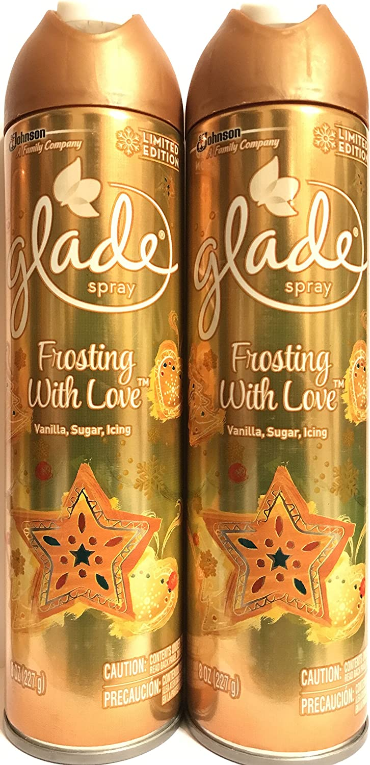 Glade Air Freshener Spray - Limited Edition - Winter Collection 2017 - Frosting With Love - Net Wt. 8 OZ (227 g) Per Can - Pack of 2 Cans