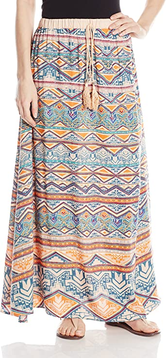 Angie Juniors Maxi Skirt B6207-FK36