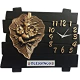 SD Enterprises Designer Wall Clock /Watch 13x11 INCHES,Gifts,Descent Leaf Ganesh/Ganesha Ji