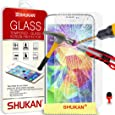Écran LCD Samsung Galaxy S5 verre trempé Crystal Clear Guard Protector & Chiffon SVL0 PAR SHUKAN®, (VERRE TREMPÉ)