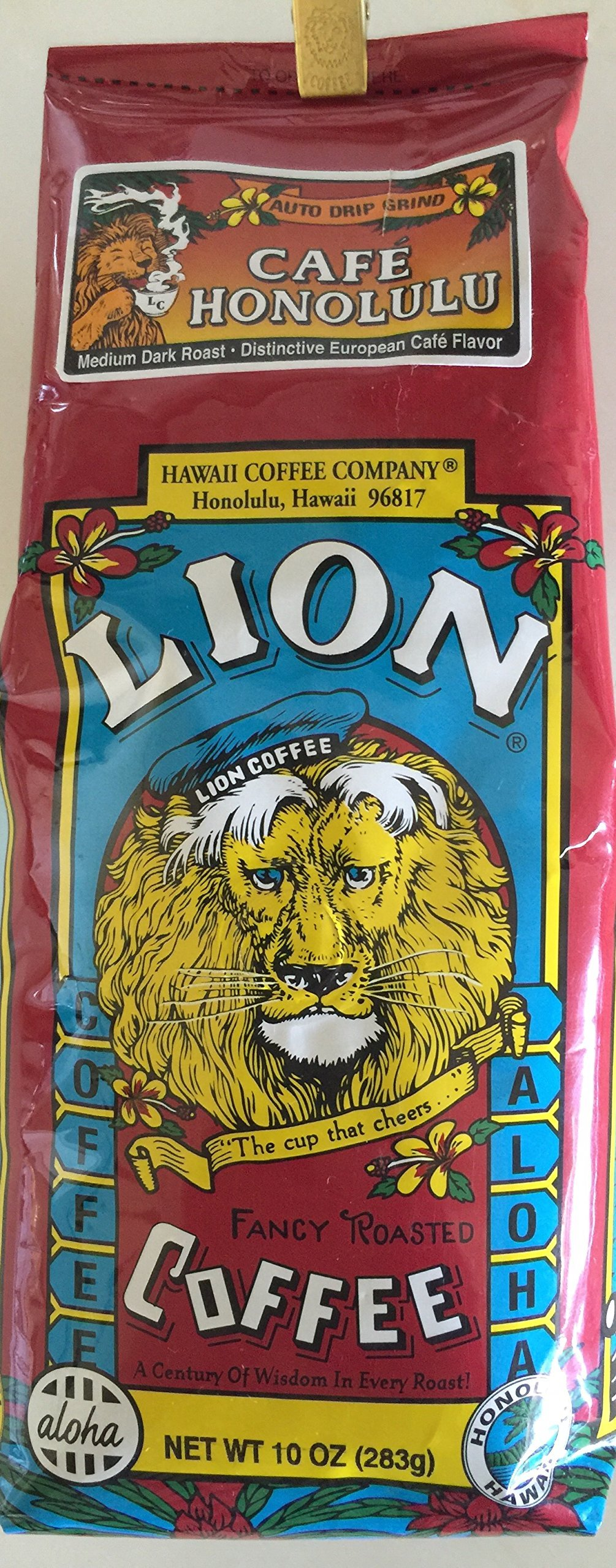 Lion Coffee Company Cafe Honolulu Ground Coffee 10 oz.
