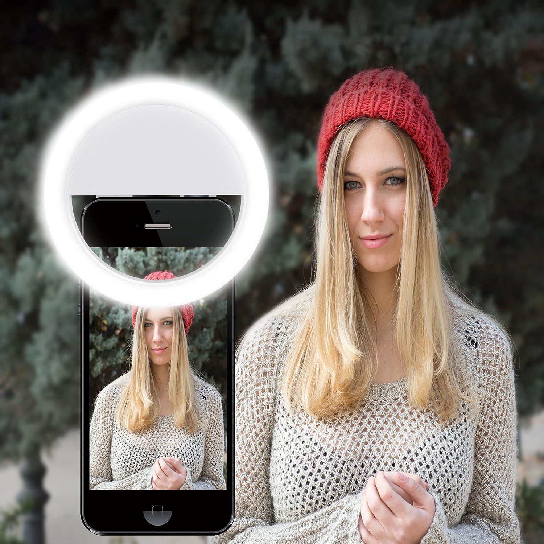 /Color Blanco gvoo 36/LED 3/W 5600/K Foco USB Flash C/ámara Luz de V/ídeo y Foto Light L/ámpara con 3/Niveles de luz para Todos los M/óviles/ Selfie Anillo Luz
