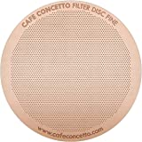 CAFE CONCETTO - AeroPress Filter - Fine | Premium Reusable Metal Disc for Aerobie Coffee Makers - Titanium Coated (Rose Gold) - Discover Your Perfect Coffee