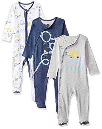 c8d267d3a Mothercare Baby Boys 3 Pack Trucker Hanging Sleeper Pyjama Sets ...