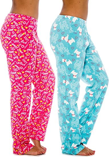 LADIES LOVE TO LOUNGE SOFT TOUCH PYJAMA BOTTOMS WITH LOGO