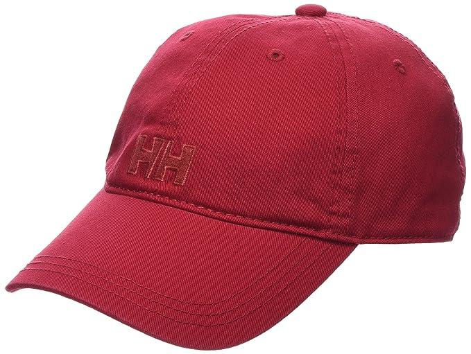 Helly Hansen Logo Cap - Gorra unisex, color rojo, talla única: Amazon.es: Deportes y aire libre