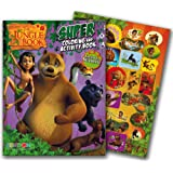 Jungle Book Coloring Book with Stickers (Jumbo 144 Pages)