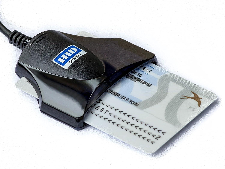HID Identity Omnikey 1021, Lettore e scrittore di smart card USB per CNS, eID e CRS firma digitale, Nero R10210311-1