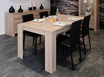 matelpro table de salle manger contemporaine coloris bruges olivia