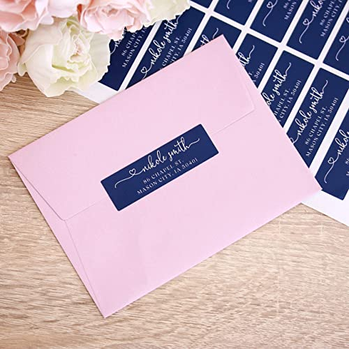 Amazon com: Navy Blue Wedding Return Address Labels Wedding