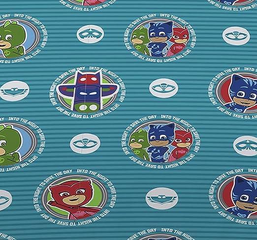 Juego de edredón individual de PJ Masks «Its Time to be Hero», incluye funda de almohada