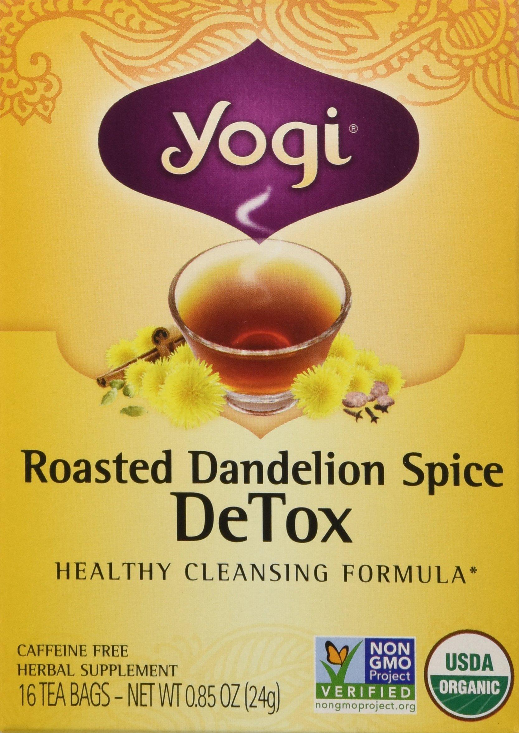 Yogi Organic Roasted Dandelion Spice Detox Tea, 16 Count
