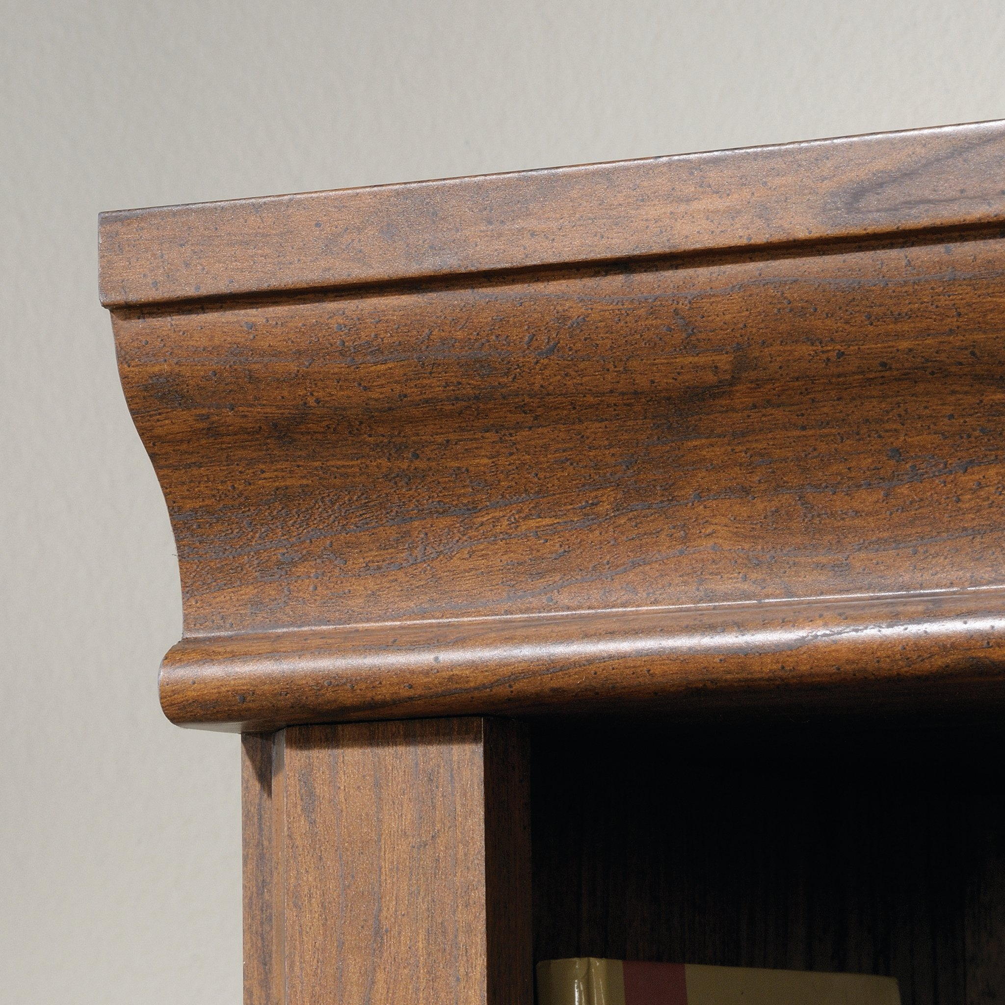 Sauder 418734 Orchard Hills Library with Doors, L: 29.45'' x W: 13.47'' x H: 71.50'', Milled Cherry finish by Sauder (Image #4)