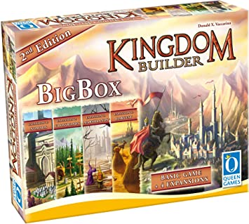 Queen Games Juego de Estrategia Kingdom Builder 10363, Caja Grande ...