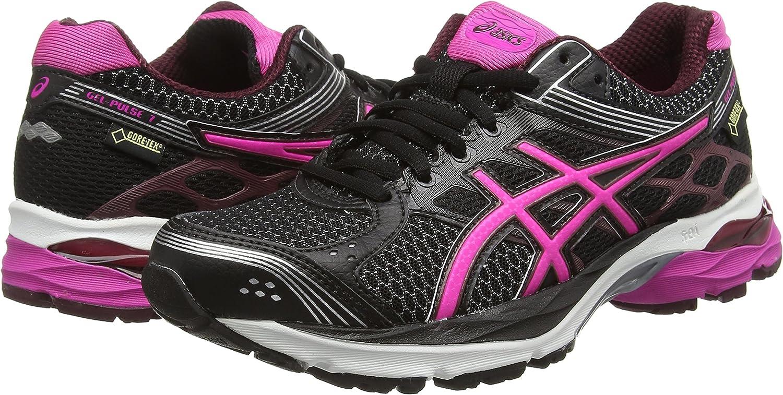 ASICS Gel-Pulse 7 G-TX - Zapatillas de Running para Mujer, Color Negro (Black/Pink Glow/Royal Burgundy 9035), Talla 44.5: Amazon.es: Zapatos y complementos