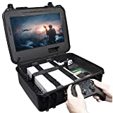 Case Club Waterproof Xbox One X/S Portable Gaming Station with Built-in Monitor & Storage for Controllers & Games, Gen 2 (Color: BLACK)