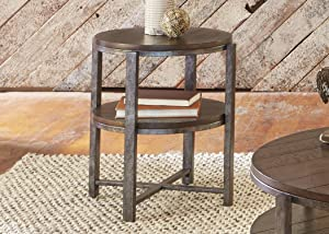 Liberty Furniture Industries Breckinridge Occasional End Table, W22 x D22 x H24, Medium Brown