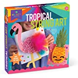 Craft-tastic - String Art Craft Kit - Makes 2 String Art Canvases - Tropical Edition with Flamingo & Pineapple Patterns