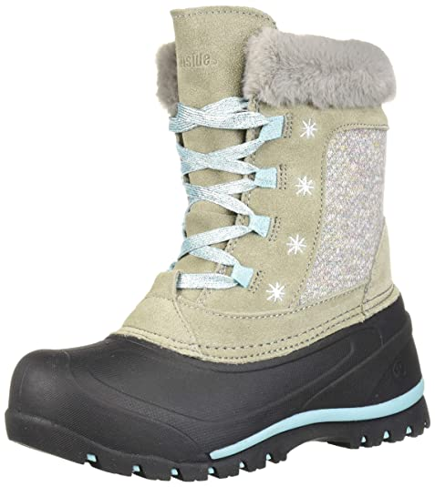 Northside Girls' Snowbird Snow Boot, Lt Gray/Aqua, 5 Medium US Little Kid