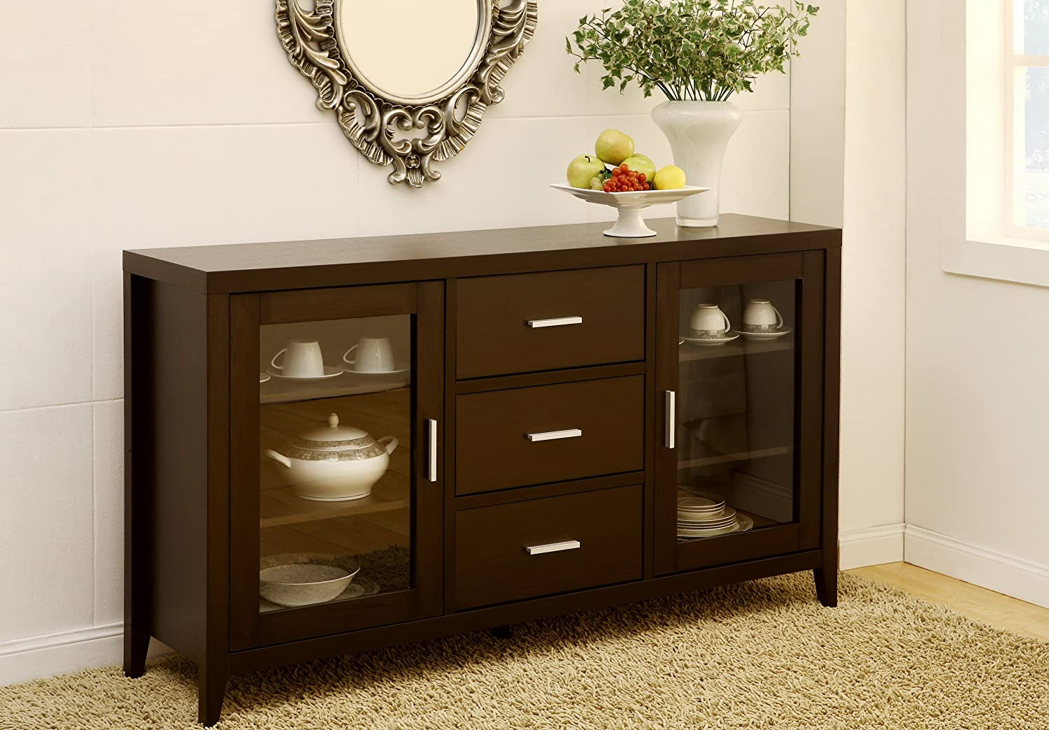 Nice Amazon.com   IoHOMES London Dining Buffet/TV Cabinet, Dark Espresso    Buffets U0026 Sideboards