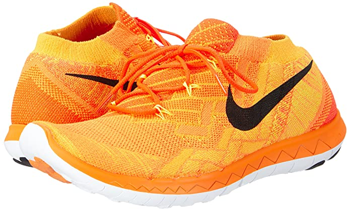 185d160b05a38 Nike Free 3.0 Flyknit 718418-801 Hyper Crimson Bright Citrus Laser  Orange Black 11  Amazon.ca  Shoes   Handbags