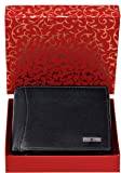 Urban Forest Oliver RFID Blocking Black Leather Wallet for Men - Packed in Traditional Festive Box for Diwali Gifting