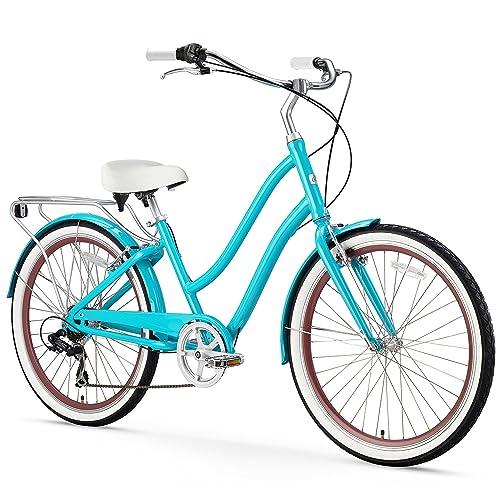 Sixthreezero Evryjourney Women's Hybrid Alloy Beach Cruiser Bicycle