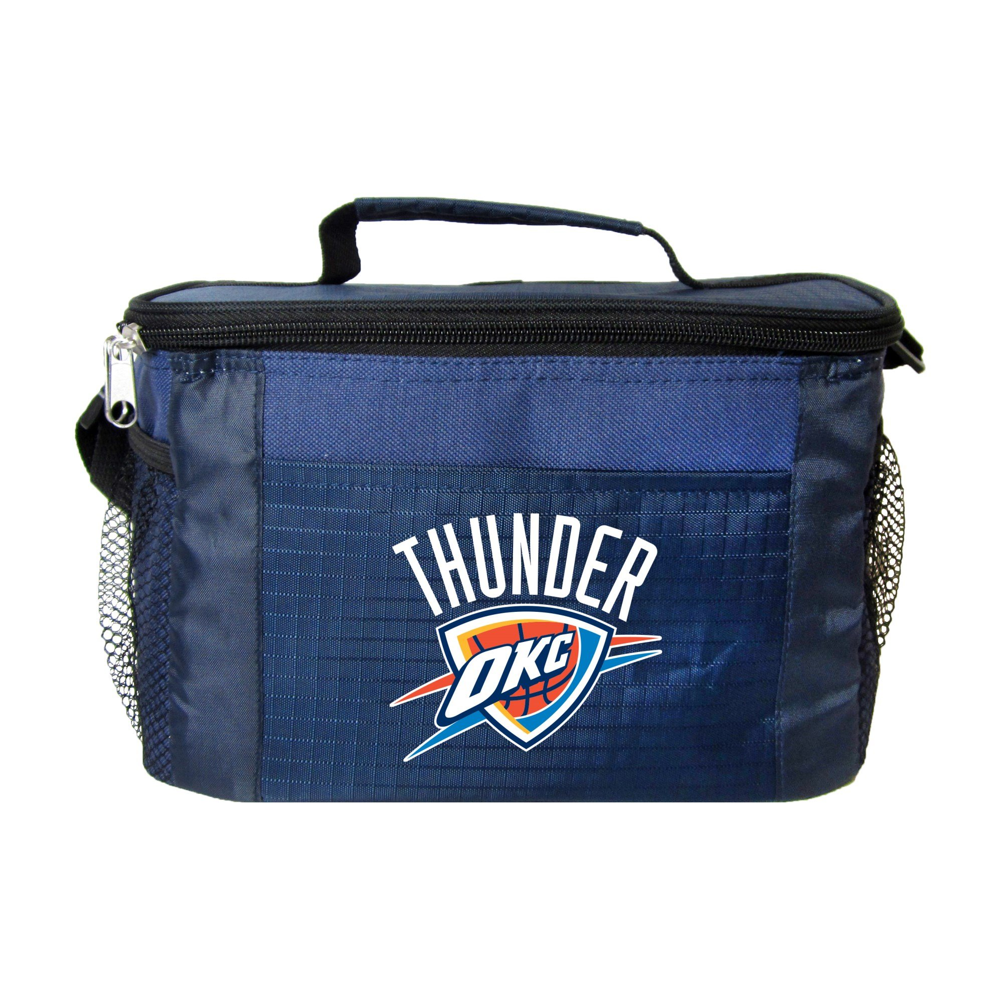 NBA Oklahoma City Thunder Insulated Lunch Cooler Bag with Zipper Closure, Navy