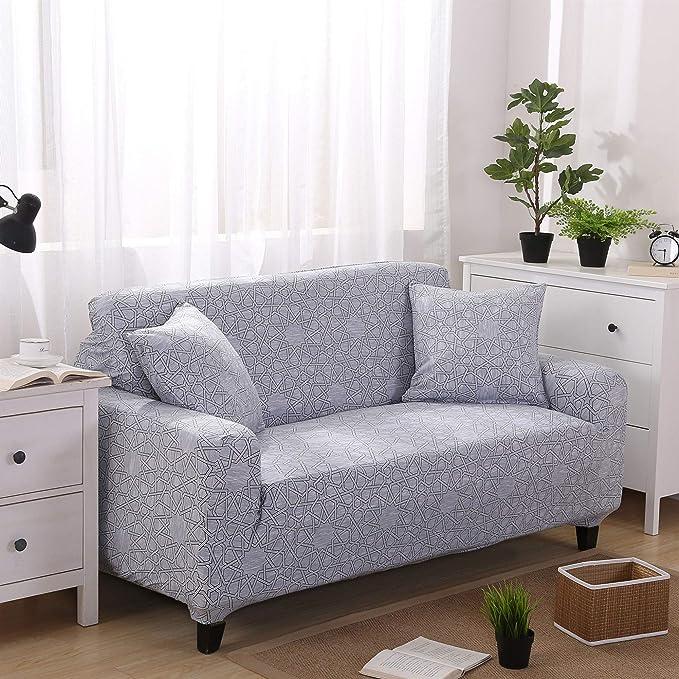 Funda Sofá de 3 plazas Universal Estiramiento, Morbuy Moderno Cubierta de Sofá Cubre Sofá Funda Furniture Protector Antideslizante Elastic Soft Sofa ...