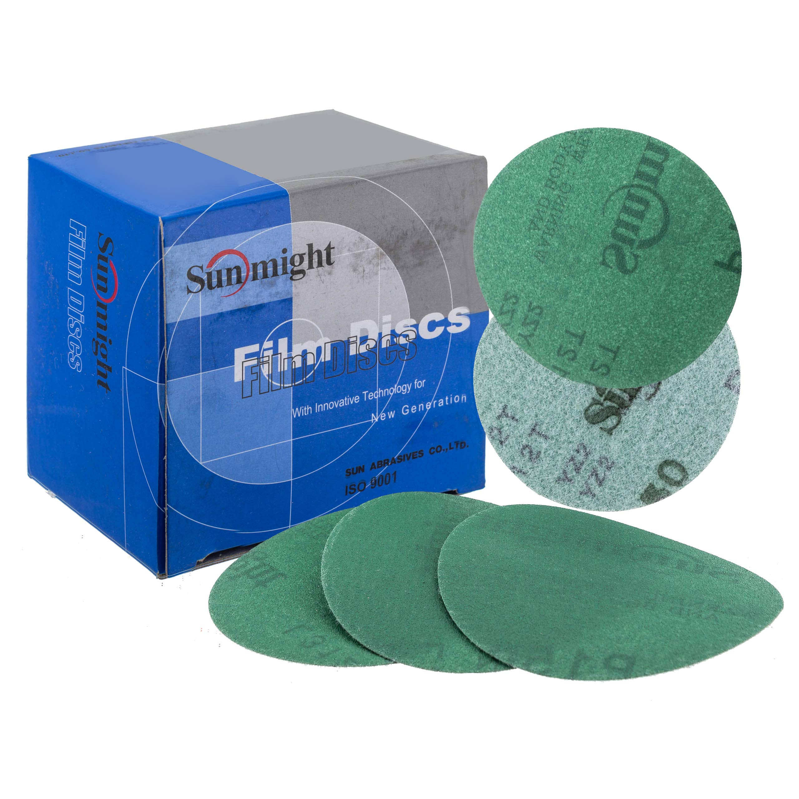 Sunmight 54211 1 Pack 3'' No Hole Velcro Disc (Film Grit 220)