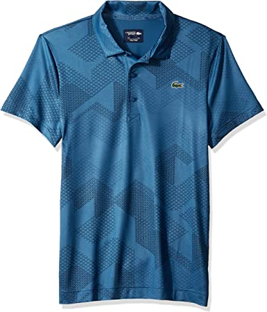 Lacoste Mens Sport Short Sleeve Ultra Dry All Over Print Sublimation Polo