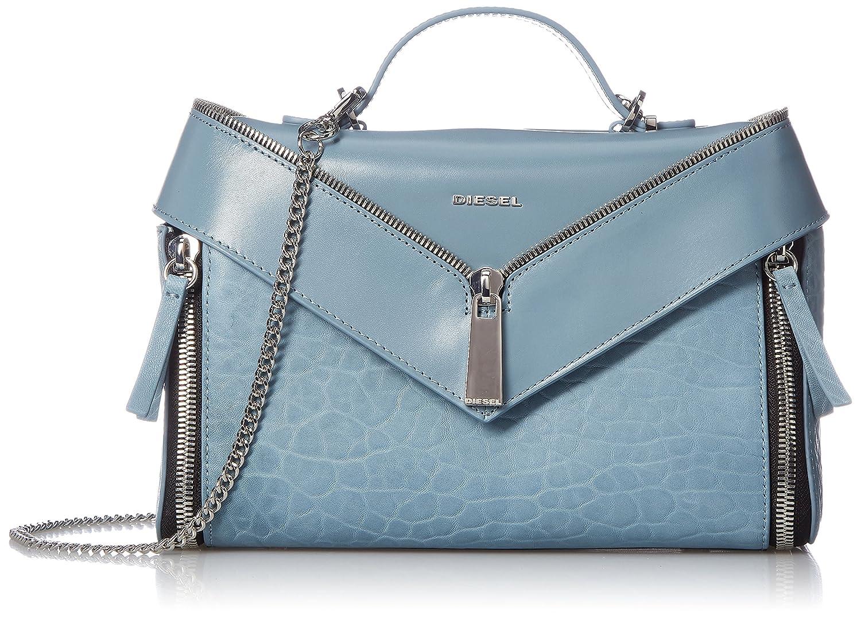 (ディーゼル) DIESEL レディース ハンドバッグ LE-ZIPPER LE-TRASY II handbag X05172P1557 B078YN64LQブルー UNI (Free)