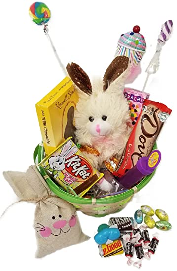Lots of chocolate easter basket for kids and adults chocolate lots of chocolate easter basket for kids and adults chocolate scented stuffed bunny fun negle Images