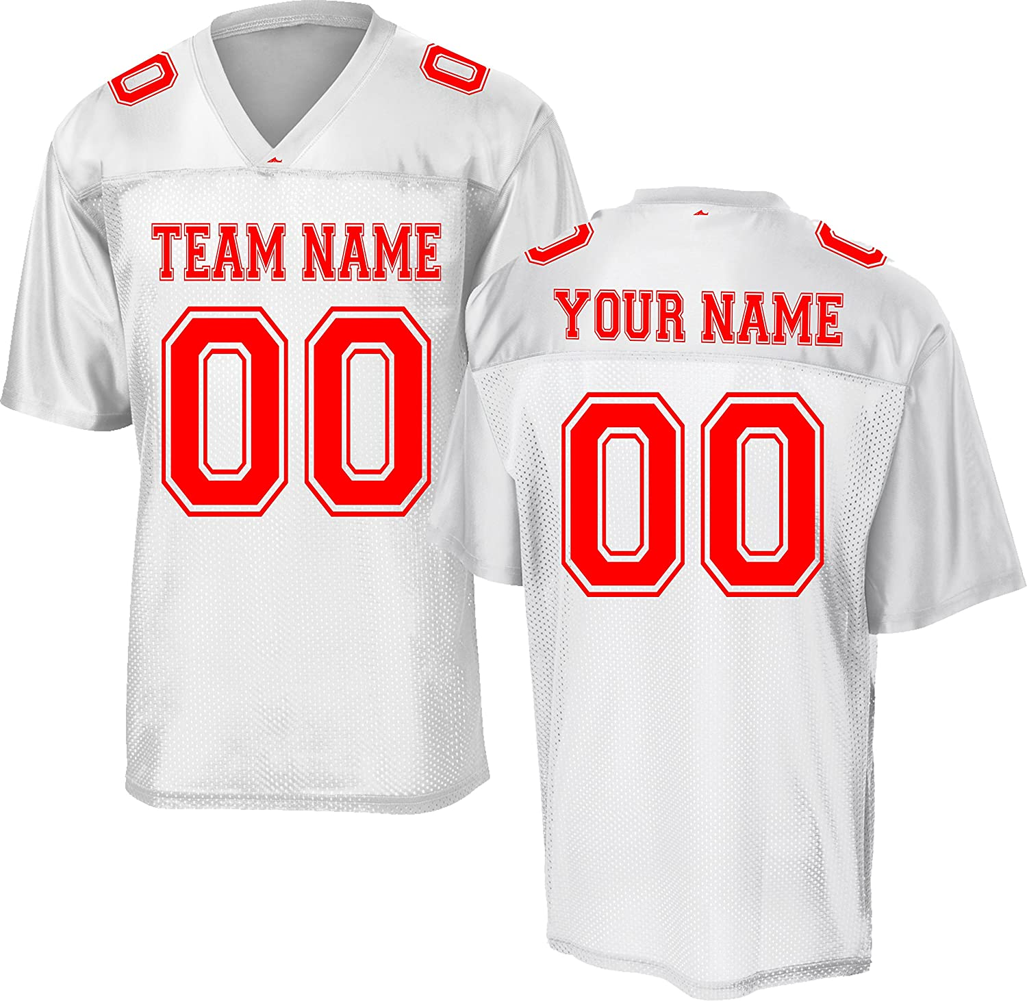 Custom Replica/Practice Football Jersey (Unisex, Youth/Adult) - Add Your Team,...