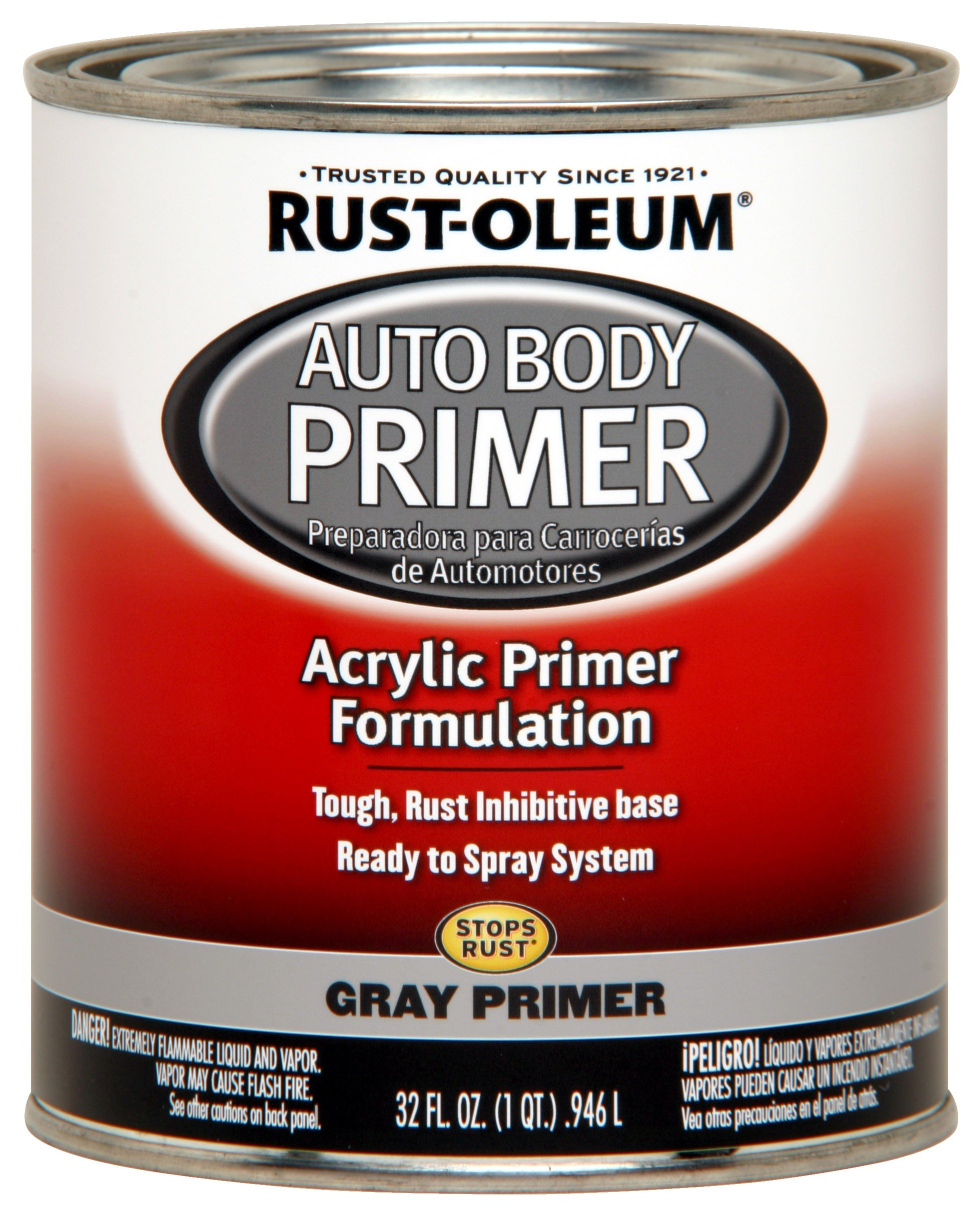 Rust-Oleum 262275 Gray Primer Automotive Auto Body Primer - 32 oz.