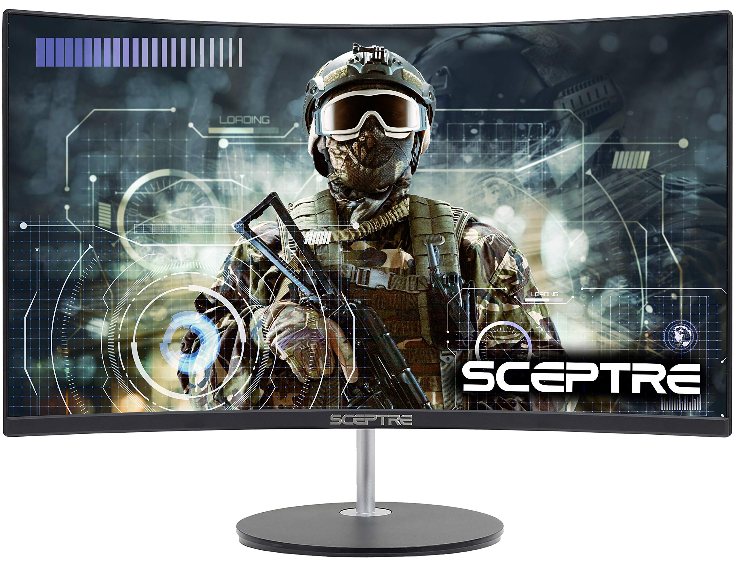 Sceptre 24'' Curved 75Hz Gaming LED Monitor Full HD 1080P HDMI VGA Speakers, VESA Wall Mount Ready Metal Black 2019 (C248W-1920RN) by Sceptre
