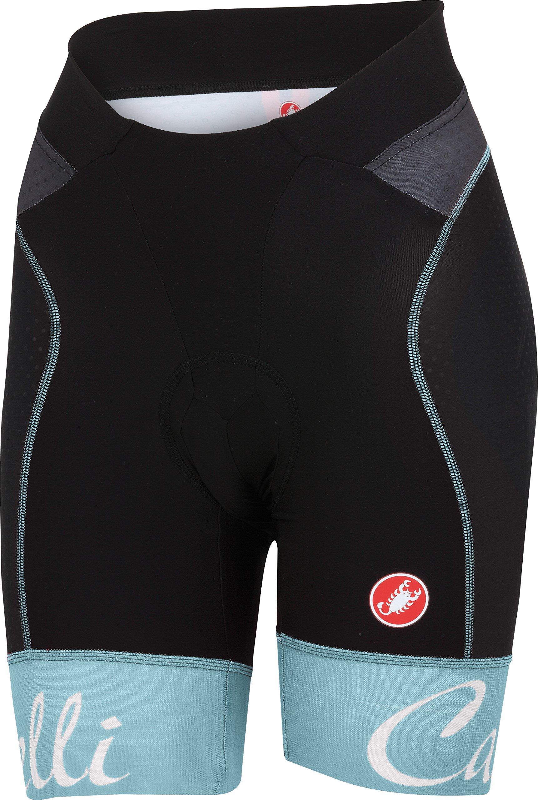 Castelli Free Aero W Short Black/Pale Blue Size XL by Castelli (Image #1)
