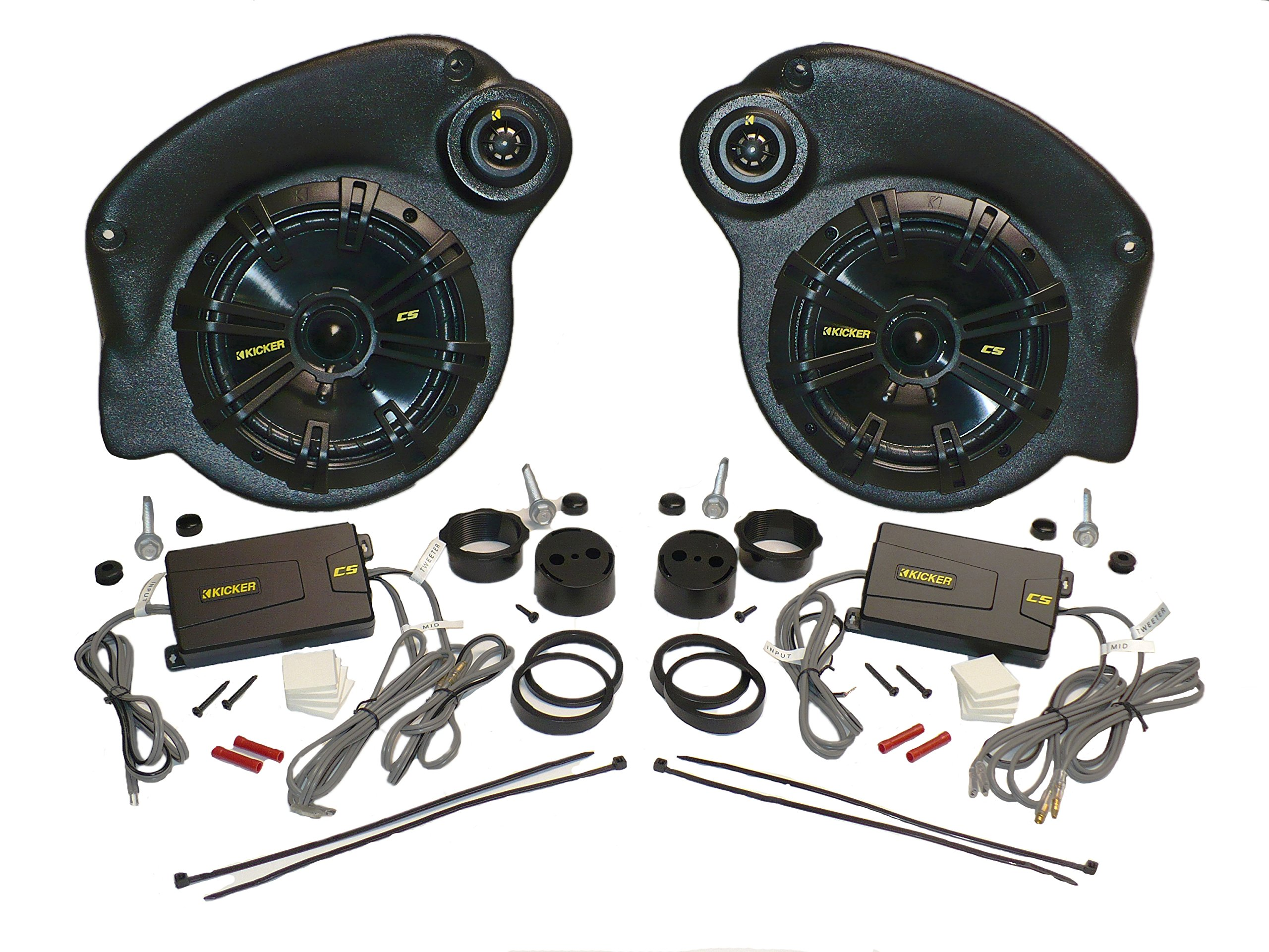 JKU-Pods with Kicker 6.75'' Speakers By Select Increments - 07-16 Jeep Wrangler Unlimited Speaker Pods (Includes Speakers)