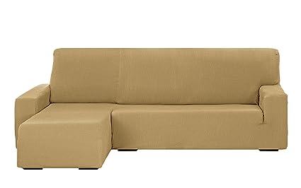 Martina Home Tunez Funda Sofá para Chaise Longue con Diseño Moderno, Tela, Beige, 240 a 280 cm