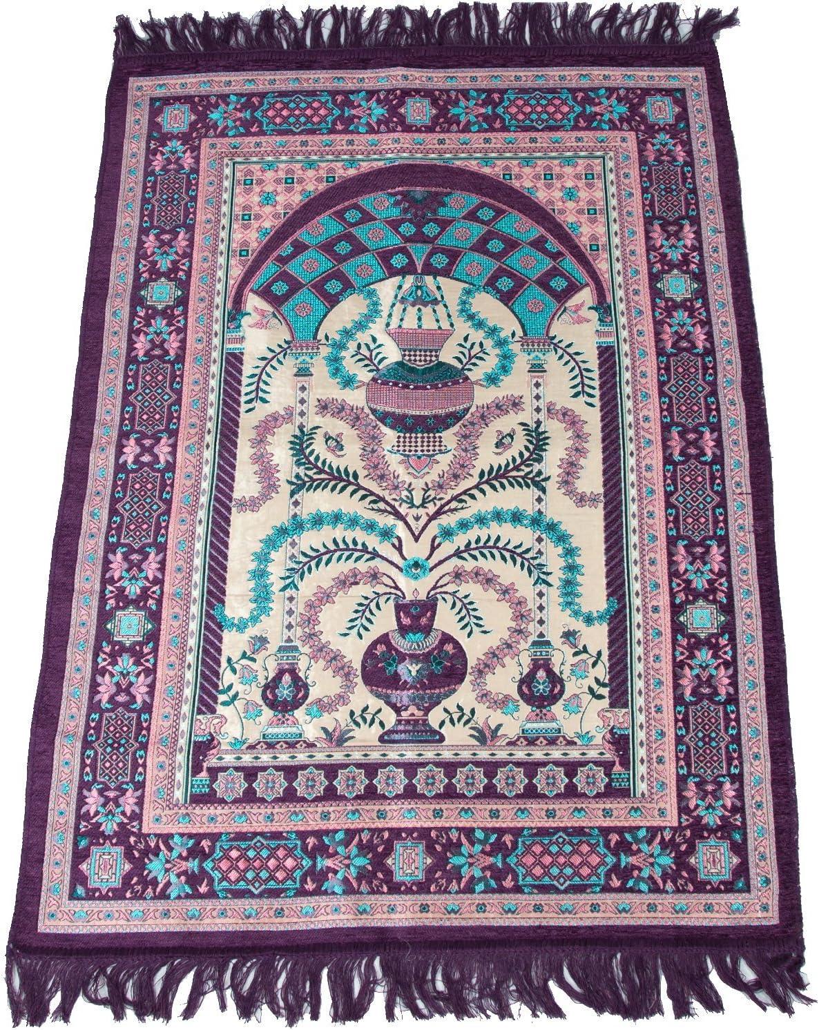 tapis de priere musulman tapis de priere islamique janamaz sajadah namaz sajjadah violet