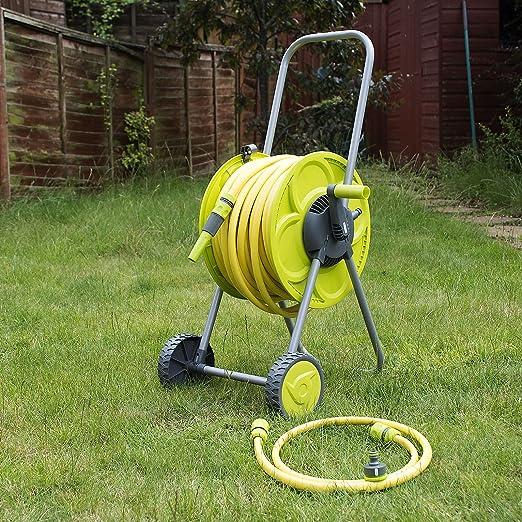 Quantum Garden Chariot avec Tuyau Vert Citron 50 m