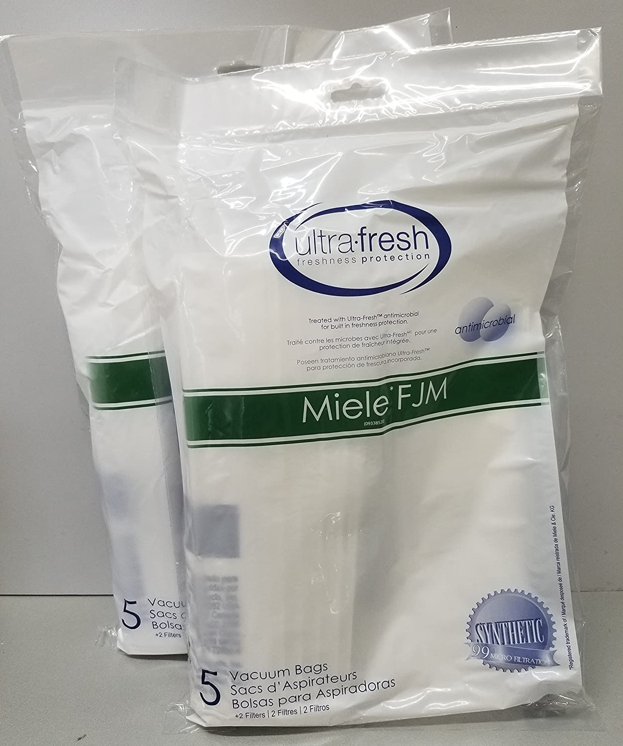 Amazon.com - Ultra Fresh Miele Type FJM Allergen Filtration Dust Bag (10 Pack + 4 Filters) S241 - S256i ✦ S290 and S291 ✦ S300i - S399 ✦ S500 - S578 ...