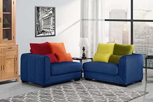 Classic 2 Piece Colorful Velvet Convertible Living Room Sofa