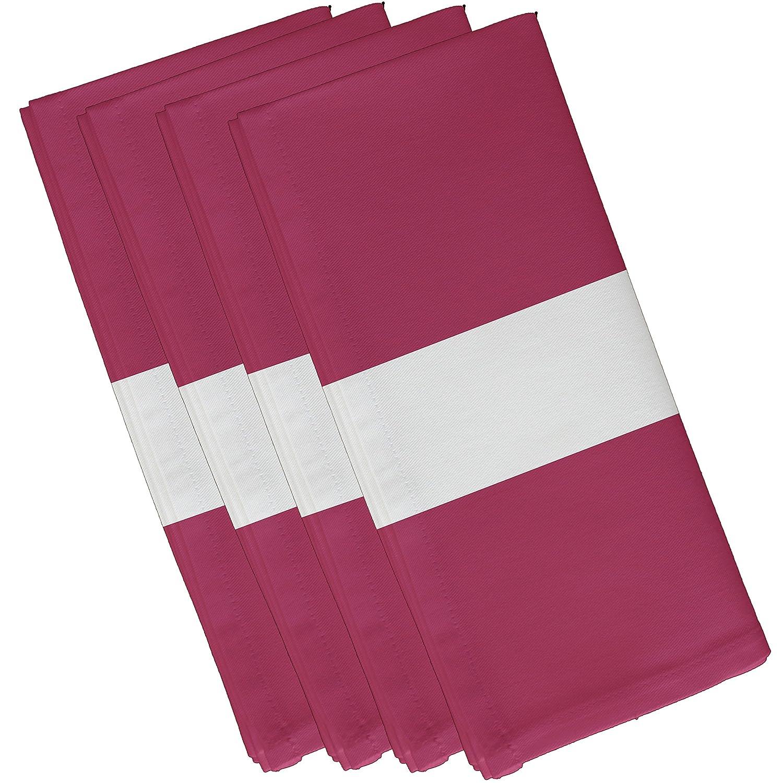 10 by 10 E By Design Narrow The Gap Stripe Print Napkin Plum 10 by 10 N4SN243PU5