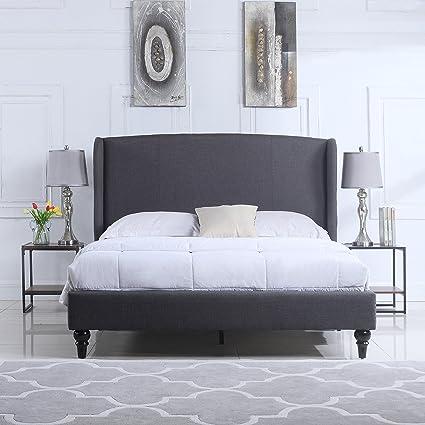 amazon com divano roma furniture classic deluxe linen platform bed