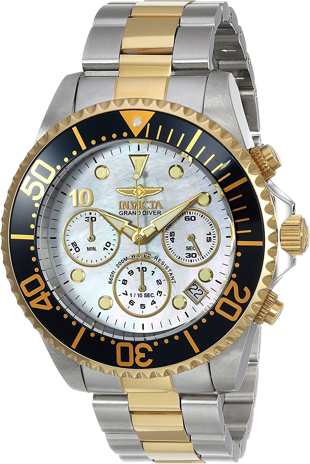 Invicta Men s Pro Diver Quartz Watch with Stainless-Steel Strap, Two Tone, 22 Model 22038