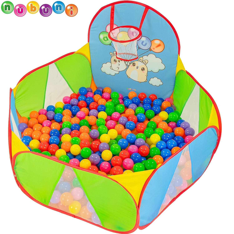 NUBUNI Piscina de Bolas : Piscina Infantil : Piscina Bolas para Parque Infantil : Piscina Bolas Bebe : Parque de Bolas : Mini Canasta Baloncesto ...