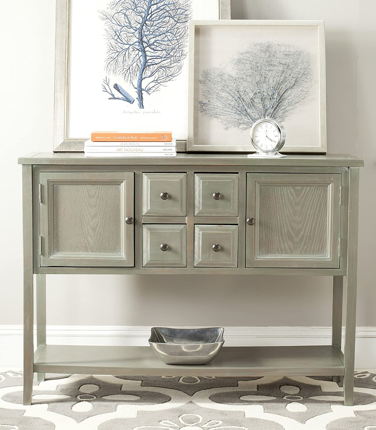 Safavieh American Homes Collection Charlotte Sideboard, French Grey