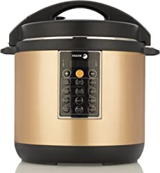 Fagor LUX Multi-Cooker, 4 quart, Electric Pressure Cooker, Slow Cooker, Rice Cooker, Yogurt Maker and more, Champagne - 935010059
